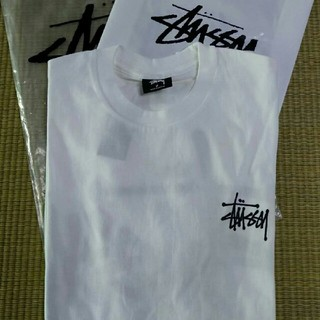 ステューシー(STUSSY)のSTUSSY 大人気Tシャツ ホワイト(一枚)(Tシャツ/カットソー(半袖/袖なし))