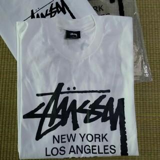 ステューシー(STUSSY)のSTUSSY 超モテモテTシャツ ホワイト(Tシャツ/カットソー(半袖/袖なし))