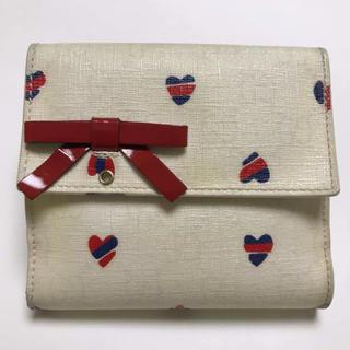グッチ(Gucci)の【GUCCI】折り財布 リボン ハート(財布)