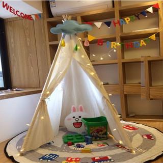 キッズテント 子供部屋 テントハウス 三角旗 LEDジュエリーライト 3点セット(その他)
