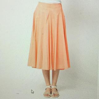 ビアッジョブルー(VIAGGIO BLU)の【新品タグ付き】サーキュラースカート ピンク サイズ2(M) (その他)