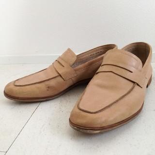 リーガル(REGAL)のREGAL リーガル ローファーレザー ベージュ レディース メンズ(ローファー/革靴)