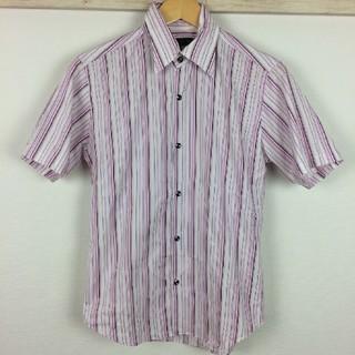 シュリセル(SCHLUSSEL)の美品 シュリセル 半袖シャツ ストライプ サイズ2(シャツ)