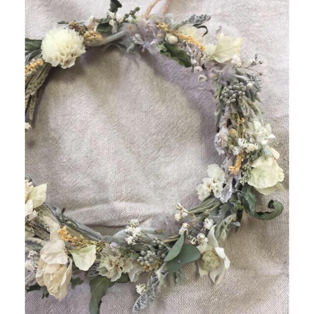 送料込み!!ハーブたちの香りに包まれるナチュラルミニリース ハンドメイドのフラワー/ガーデン(リース)の商品写真