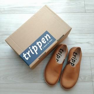 トリッペン(trippen)の新品★trippen トリッペン★yen スリッポン レザーシューズ 35(ローファー/革靴)