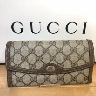 グッチ(Gucci)のレア 正規品 GUCCI 長財布 ヴィンテージ がま口(財布)