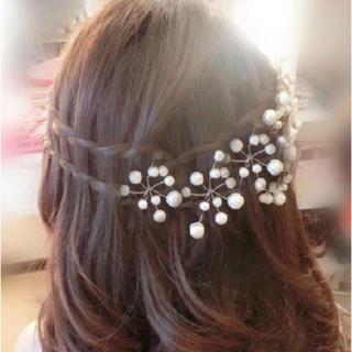 ■ 髪飾り ヘアー ドレス 結婚式 卒業式 入学式 ヘアピン 五本セット(ヘアピン)