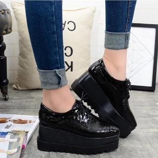 プラットフォームシューズ(ローファー/革靴)