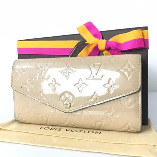 ルイヴィトン(LOUIS VUITTON)のルイヴィトン  ポルトフォイユ  新形サラ  ベージュ系  モノグラム  長財布(財布)