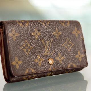 ルイヴィトン(LOUIS VUITTON)の美品 良品 本物 ルイ ヴィトン モノグラム 二つ折り財布 正規品t(財布)
