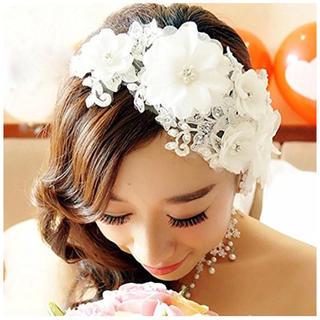 ■ ヘアー ドレス ウェディング 結婚式 撮影会 髪飾り 卒業式 入学式(ヘアバンド)