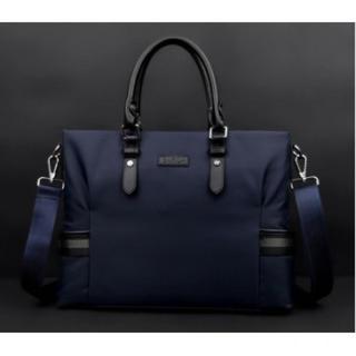 ☆新品 メンズ オックスフォード ビジネスバッグ ネイビー ブリーフケース 上質(ビジネスバッグ)