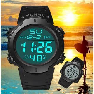 HONHX 防水腕時計 ダイバーズウォッチ アウトドア サーフィン(腕時計(デジタル))