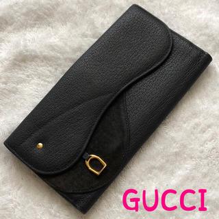 グッチ(Gucci)のGUCCI グッチ オールドグッチ 長財布 美品 正規品 スエード(財布)