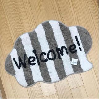 welcome!モコモコ玄関マット⑅◡̈*(玄関マット)
