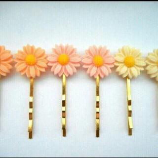 お花のヘアピンセット♪全2色(ヘアアクセサリー)