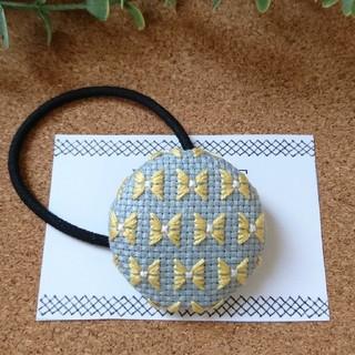 刺繍 ヘアゴム(ヘアアクセサリー)