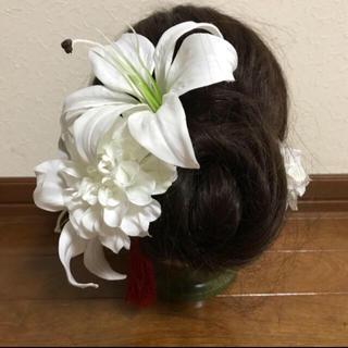 百合 髪飾り(ヘアアクセサリー)