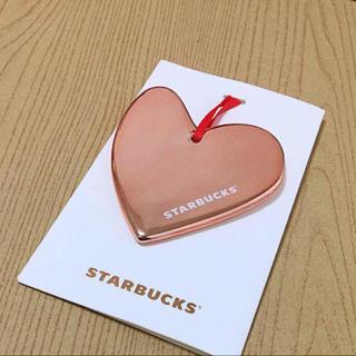 スターバックスコーヒー(Starbucks Coffee)のワケあり! ☆ スターバックス クリスマス オーナメント ハート 金属 プレート(その他)