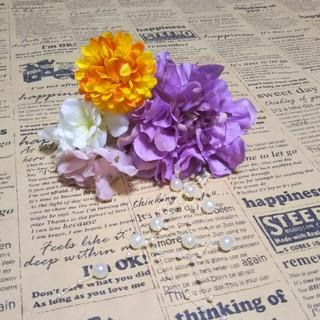 花飾り 髪飾り 夏祭り イベント(ヘアアクセサリー)