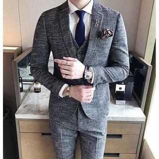 紳士 セットアップ スーツメンズ 着痩せ スーツジャケット 380(セットアップ)