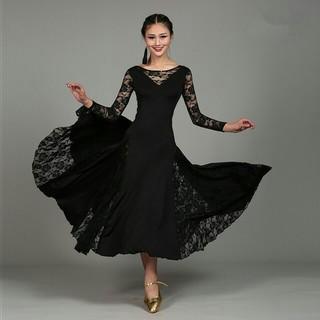 社交ダンス パーティードレス Mサイズ ブラック(ダンス/バレエ)