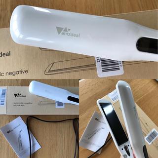 未使用箱付ストレートヘアアイロンホワイトカール可能ホワイト(ヘアアイロン)