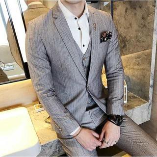セットアップ 着痩せ スーツメンズ スーツジャケット 紳士 382(セットアップ)