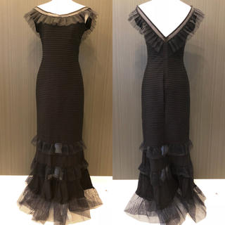 タダシショウジ(TADASHI SHOJI)の新品 タダシショージ Tadashi shoji ロング ラッフル ドレス(ロングドレス)