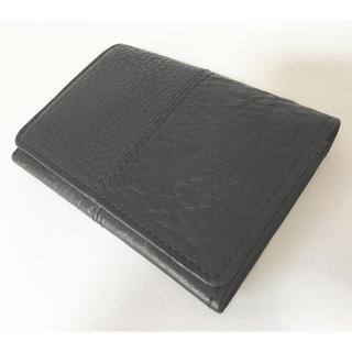 ヌメ革カードケース 黒(名刺入れ/定期入れ)