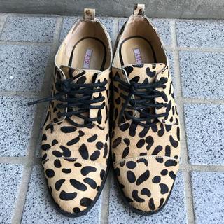 スライ(SLY)のSLY ハラコレオパードローファー(ローファー/革靴)