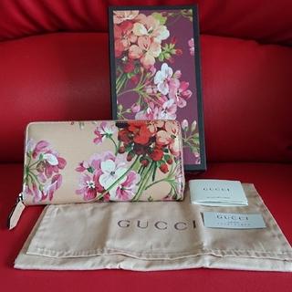 グッチ(Gucci)のGUCCI グッチ ブルームス ファスナー 長財布 本物(財布)