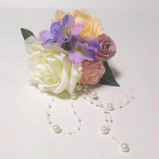 花飾り 髪飾り 結婚式 イベント 夏祭り(ヘアアクセサリー)