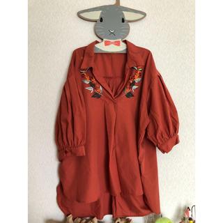 シマムラ(しまむら)のしまむら シャツ 花刺繍(シャツ/ブラウス(半袖/袖なし))
