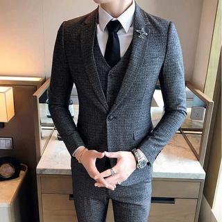 無地 スーツメンズ セットアップ 紳士スーツジャケット 細身 385(セットアップ)