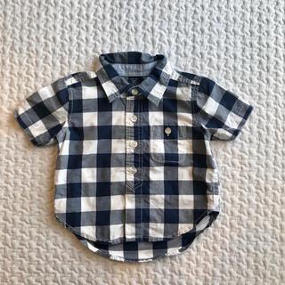 ベビーギャップ(babyGAP)の【80】ベビーギャップ✩︎ブロック ギンガム チェックシャツ(シャツ/カットソー)
