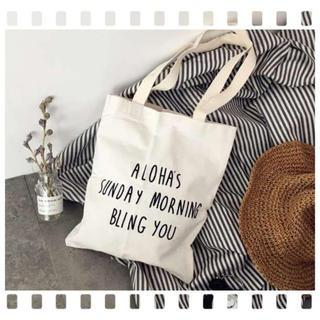 ALOHA's トートバッグ★シンプル 帆布(トートバッグ)