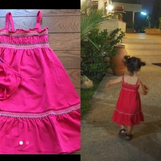 ベビーギャップ(babyGAP)のベビーギャップ ピンクのワンピース ドレス(ワンピース)