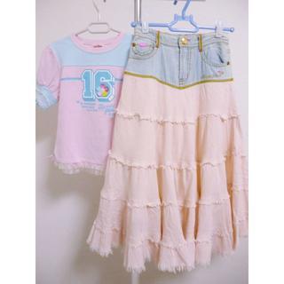 mezzo piano - メゾピアノのTシャツとスカート 130cm☆7557