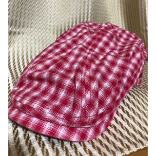 キスマーク(kissmark)のハンチング帽 赤チェック (ハンチング/ベレー帽)