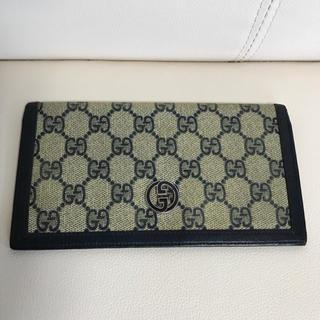 グッチ(Gucci)のGUCCI オールドグッチ 財布 札入れ ネイビー (財布)