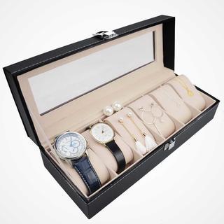 ☆人気☆ 腕時計収納ボックス 6本 ブラック