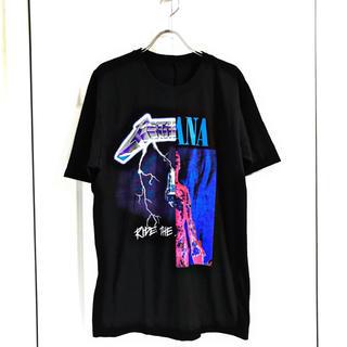 Nirvana × METALLIC 50×50 ハーフリメイクTシャツ(Tシャツ/カットソー(半袖/袖なし))