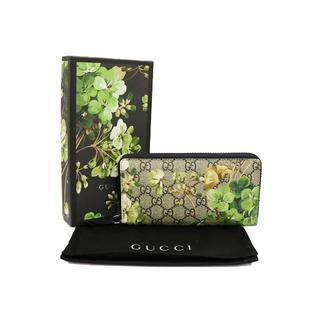 グッチ(Gucci)のGUCCI GGブルームス・フラワープリント ラウンドファスナー長財布(財布)