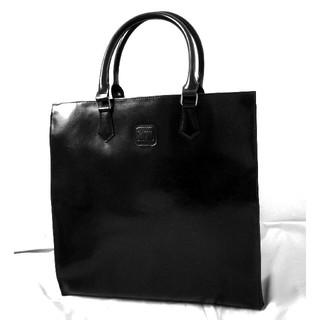 【新品タグ付き】SAZIOスクエア☆黒ブラックトート手提げリクルート鞄就職活動(ビジネスバッグ)