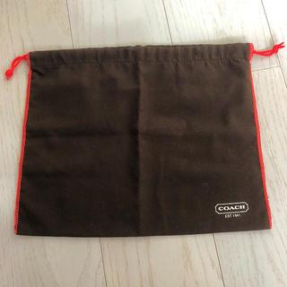 コーチ(COACH)のコーチ☆ ポーチ 巾着袋 ブラウン(ショップ袋)