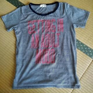 シマムラ(しまむら)の同梱100円♡ボーダーロゴ入Tシャツ♡M(Tシャツ(半袖/袖なし))