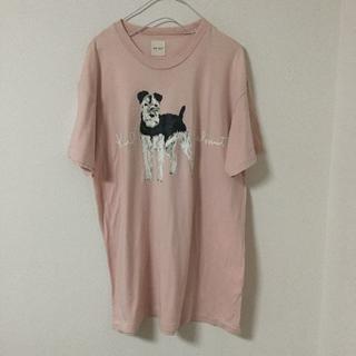 カールヘルム(Karl Helmut)のKarl Helmut Tシャツ 犬 ロゴ 動物 ピンク ビックシルエット(Tシャツ(半袖/袖なし))