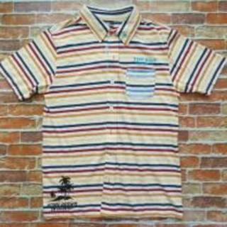 T&C Surf 刺繍入りピンボーダー半袖シャツ(シャツ)