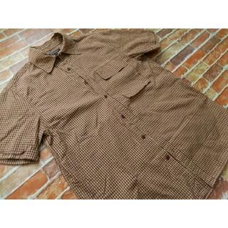 アールニューボールド(R.NEWBOLD)のR.NEW.BOLD ブラウン系チェックシャツ(シャツ)